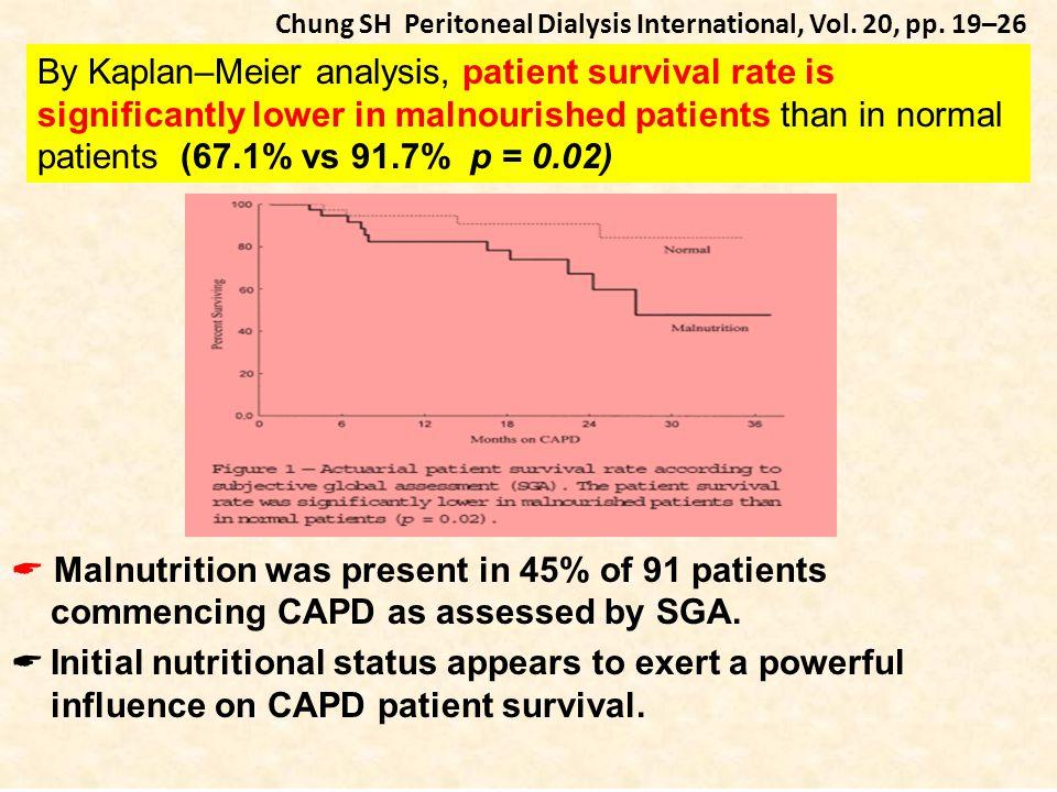 Chung SH Peritoneal Dialysis International, Vol. 20, pp. 19–26