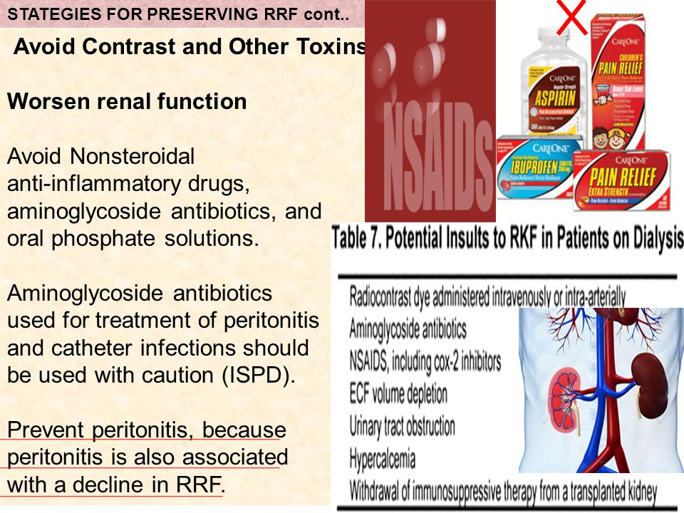 Avoid Contrast and Other Toxins Worsen renal function