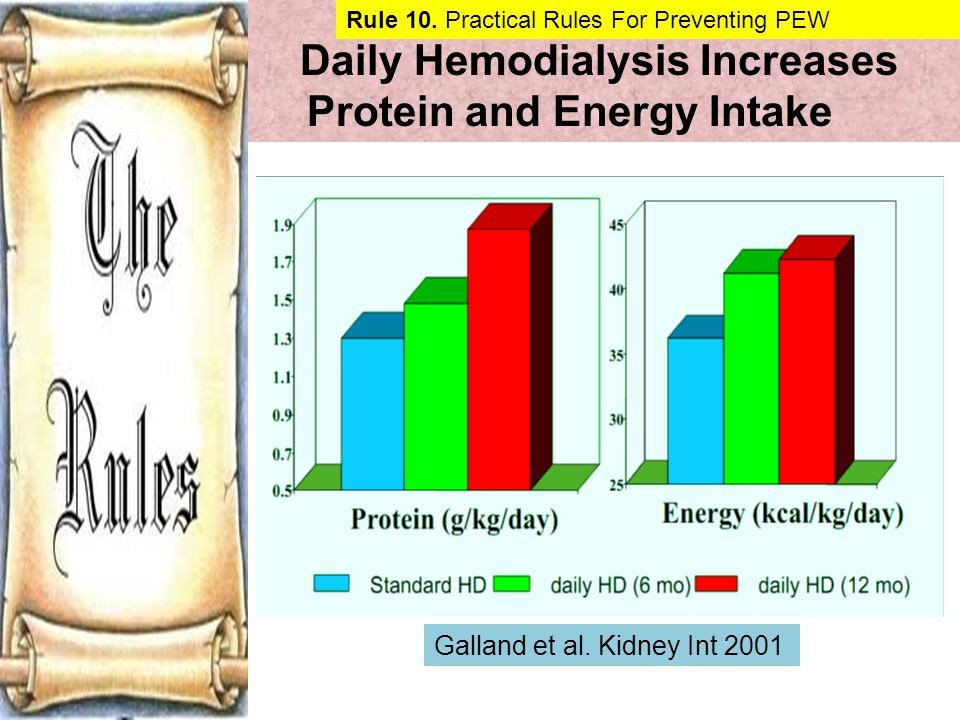 Daily Hemodialysis Increases Protein and Energy Intake