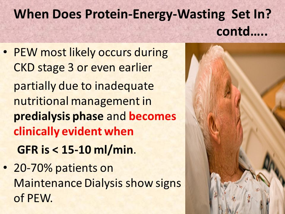 When Does Protein-Energy-Wasting Set In contd…..