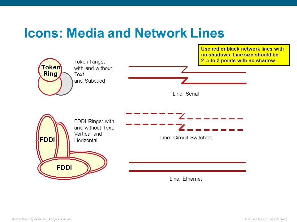 Icons: Media and Network Lines