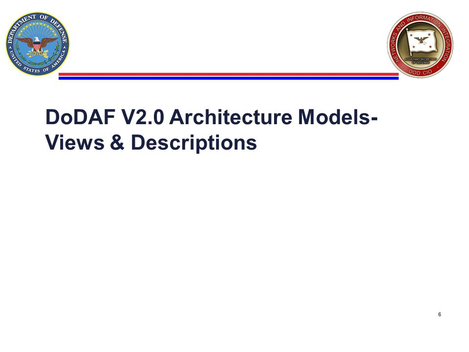 DoDAF V2.0 Architecture Models-Views & Descriptions