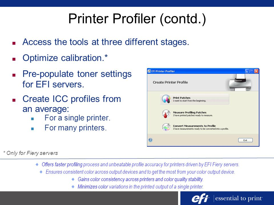 Printer Profiler (contd.)