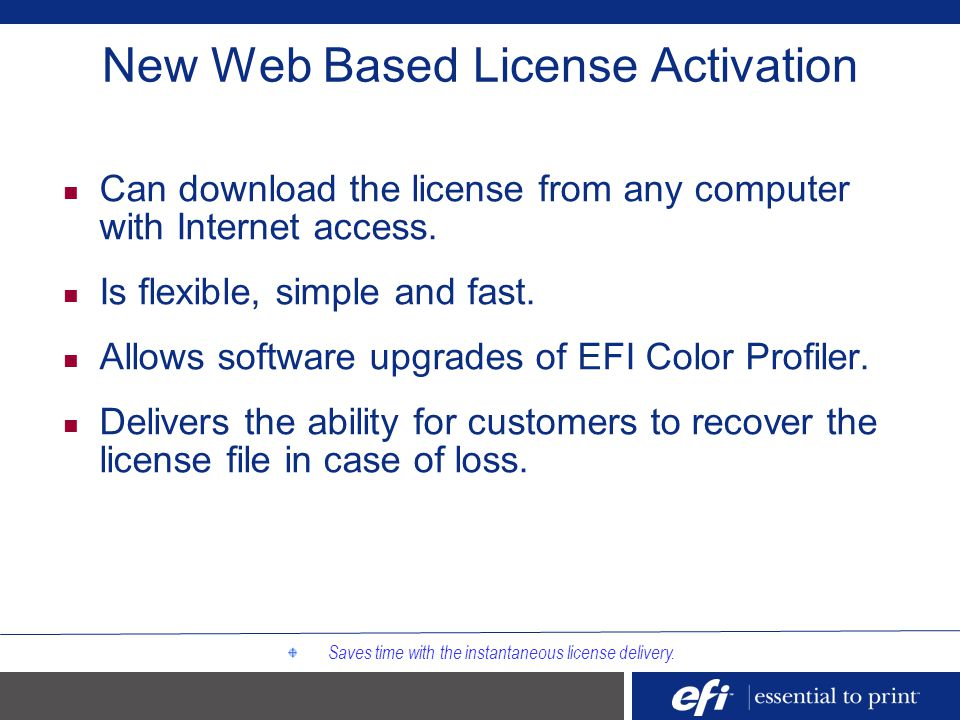 New Web Based License Activation