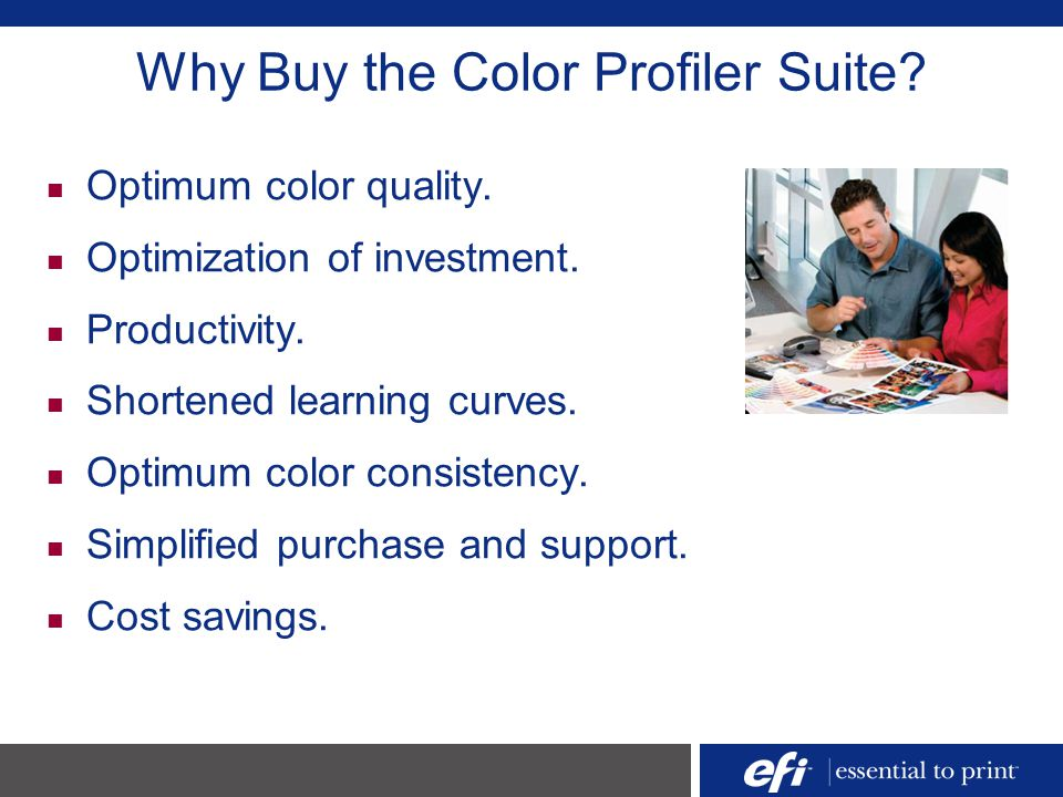 Why Buy the Color Profiler Suite