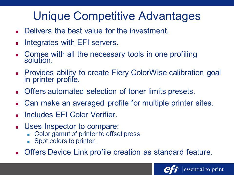 Unique Competitive Advantages