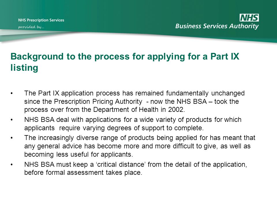 Background to the process for applying for a Part IX listing