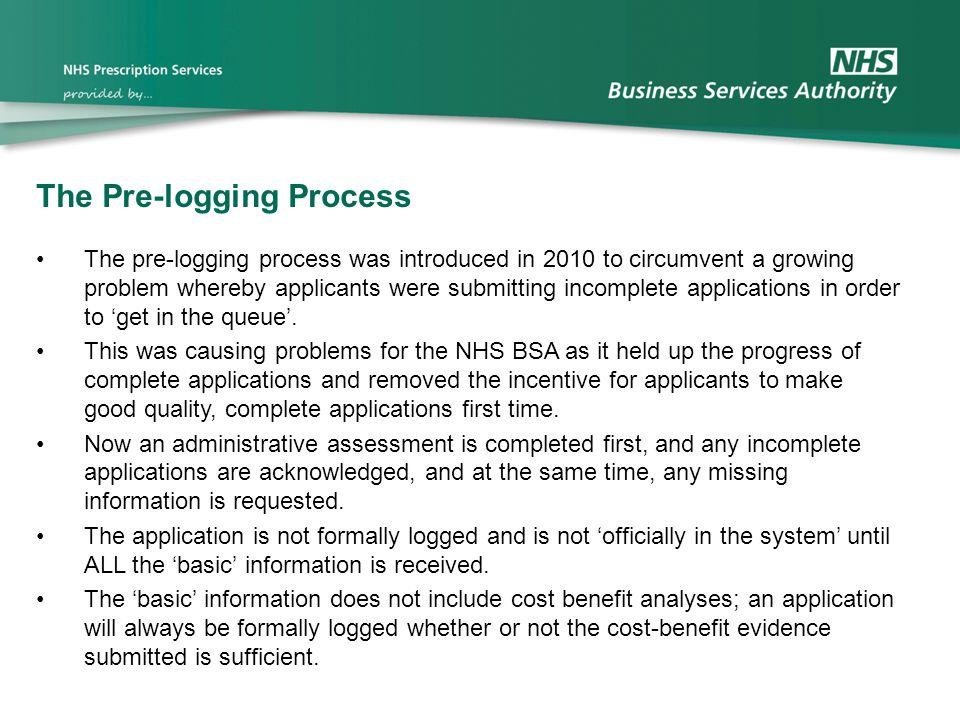 The Pre-logging Process