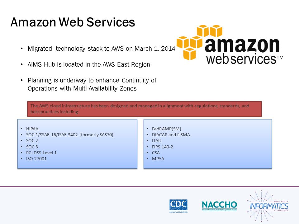 Amazon Web Services Migrated technology stack to AWS on March 1, 2014