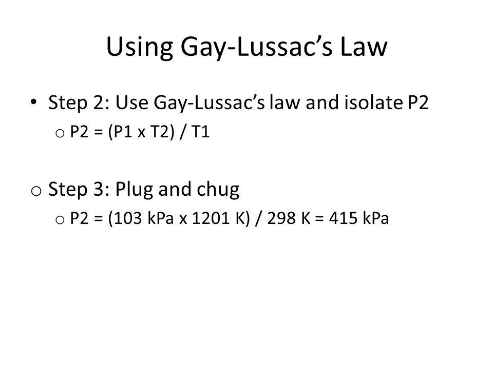 Using Gay-Lussac's Law