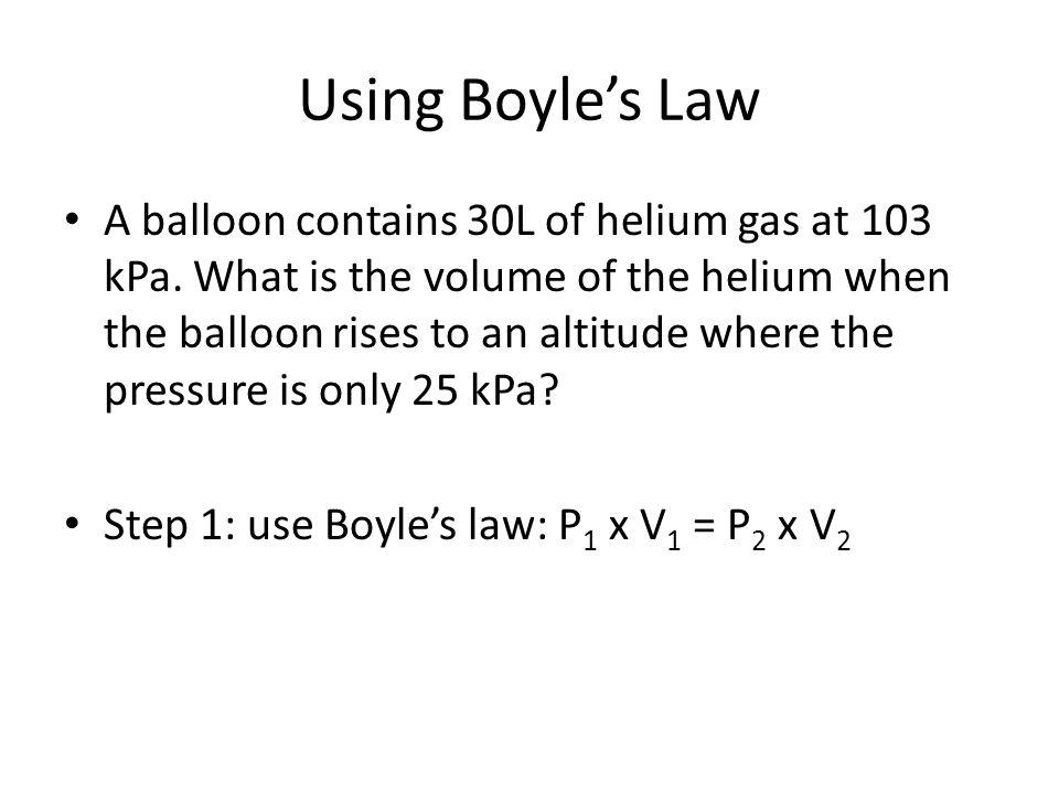 Using Boyle's Law