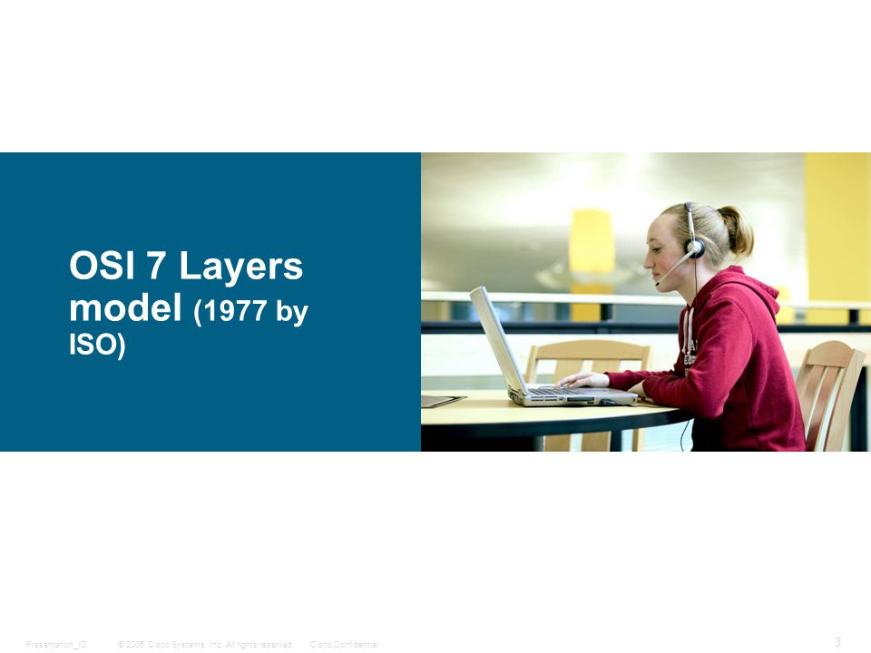 OSI 7 Layers model (1977 by ISO)