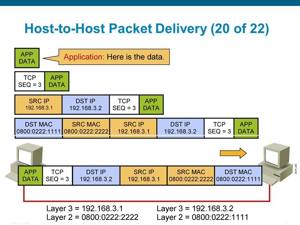 Host-to-Host Packet Delivery (20 of 22)