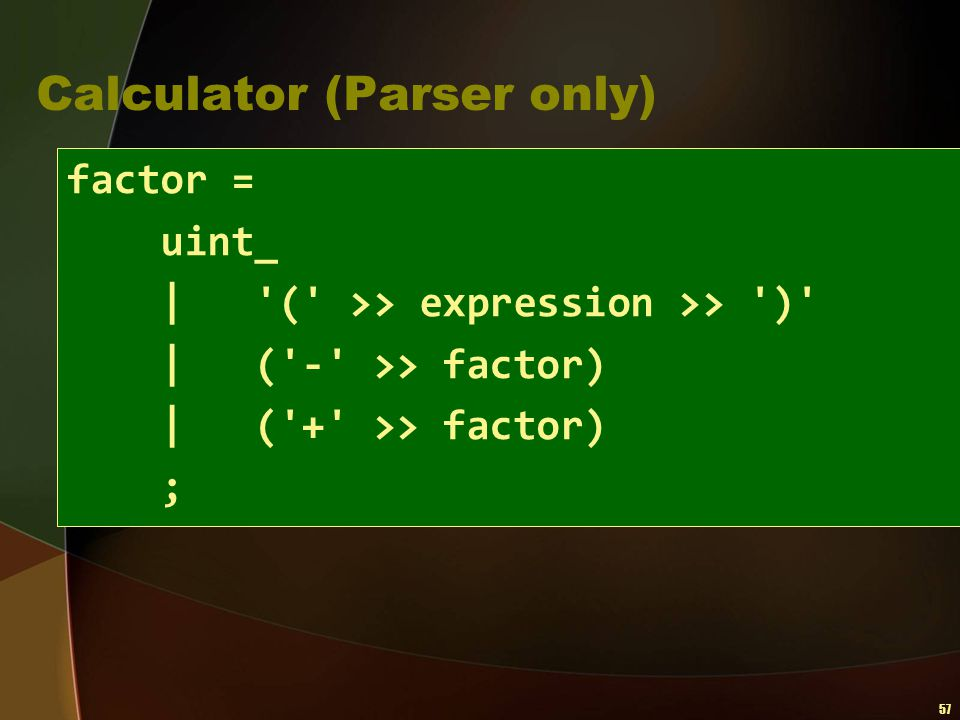Calculator (Parser only)