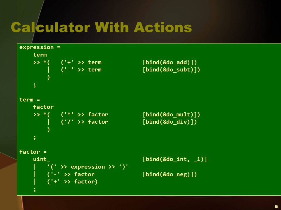 Calculator With Actions