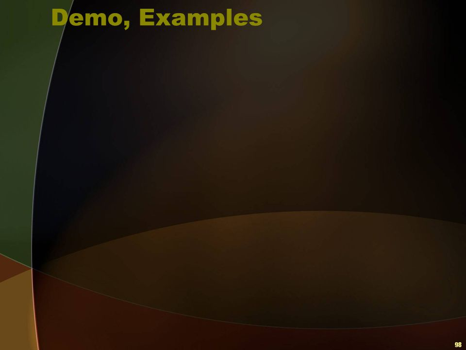 Demo, Examples