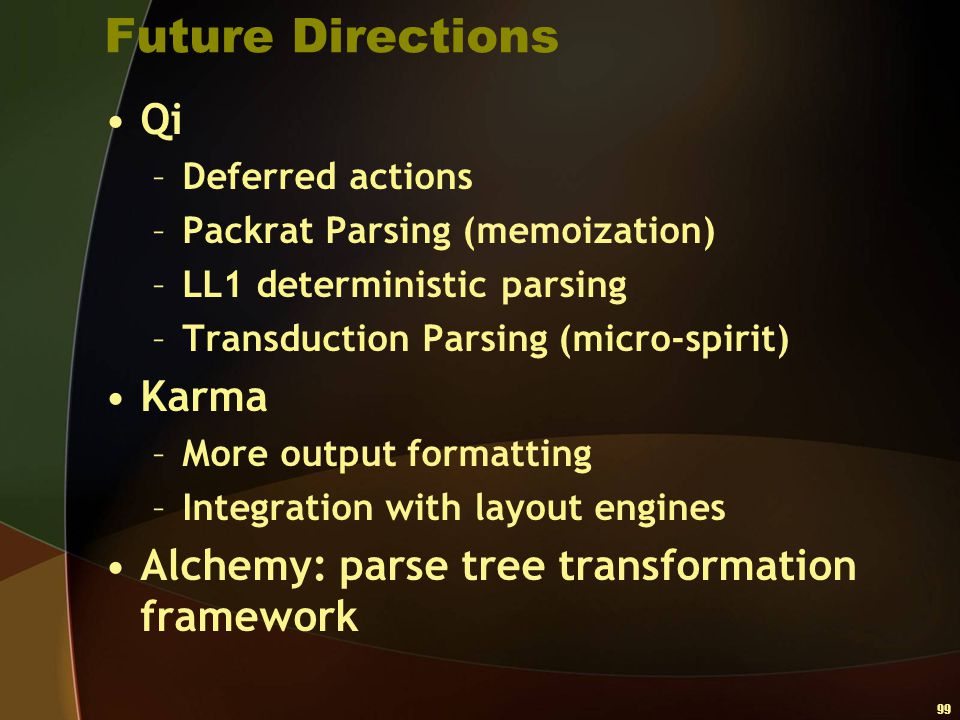 Future Directions Qi Karma