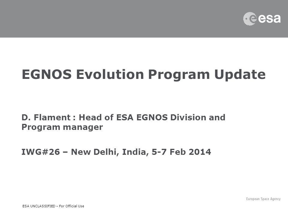 EGNOS Evolution Program Update D