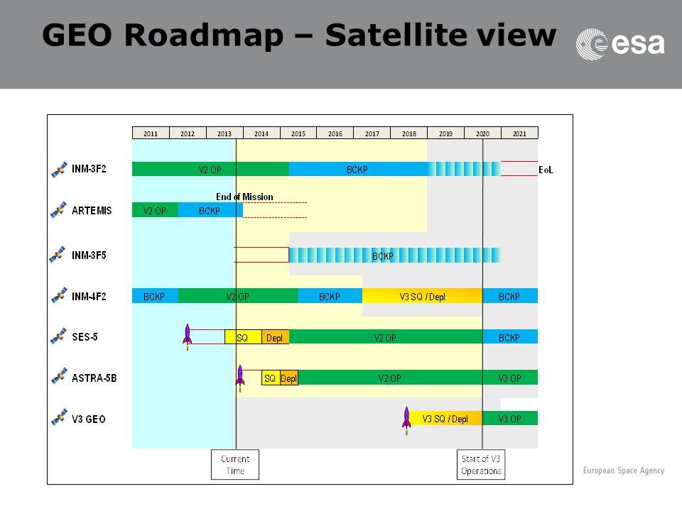 GEO Roadmap – Satellite view