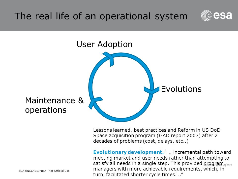 The real life of an operational system