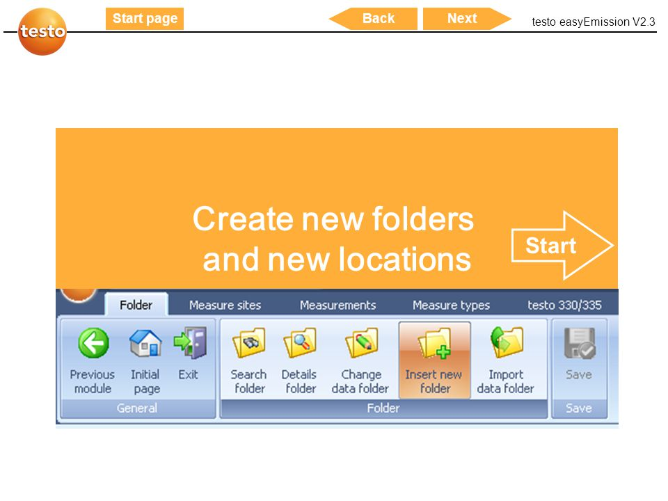 Create new folders and new locations