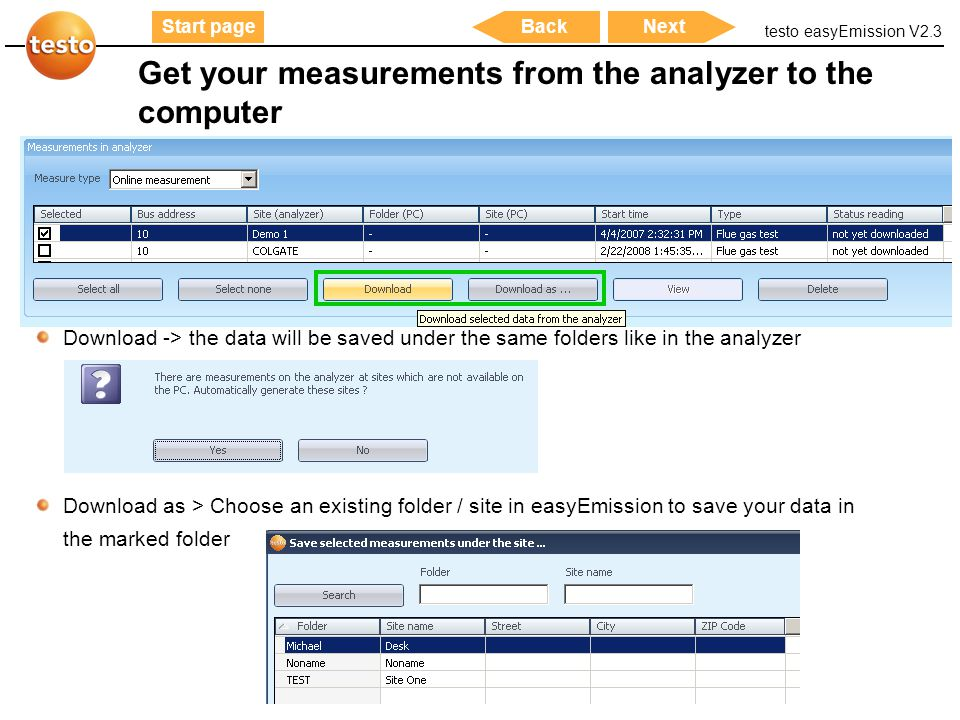 Get your measurements from the analyzer to the computer