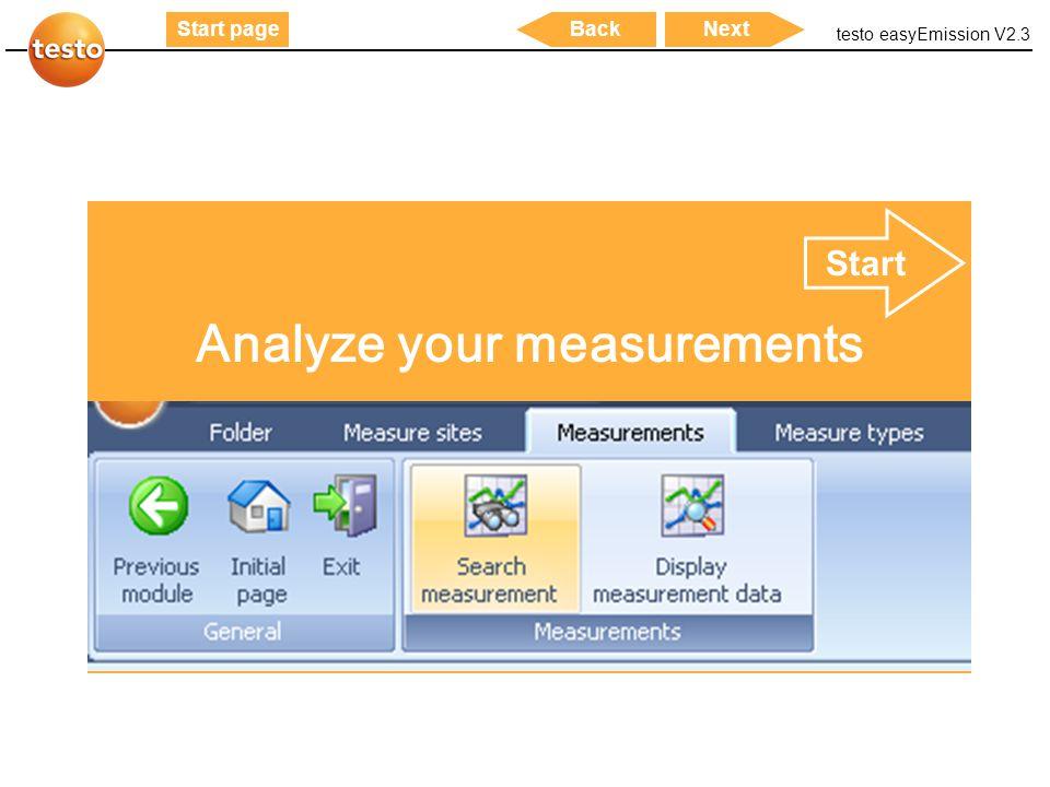 Analyze your measurements
