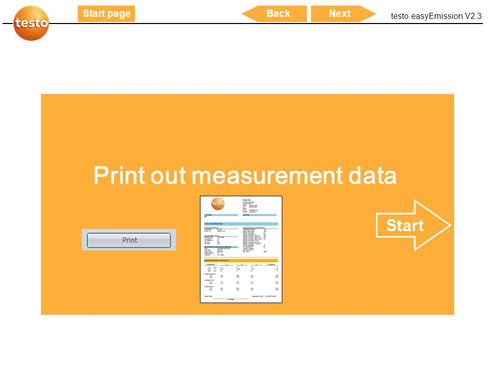Print out measurement data