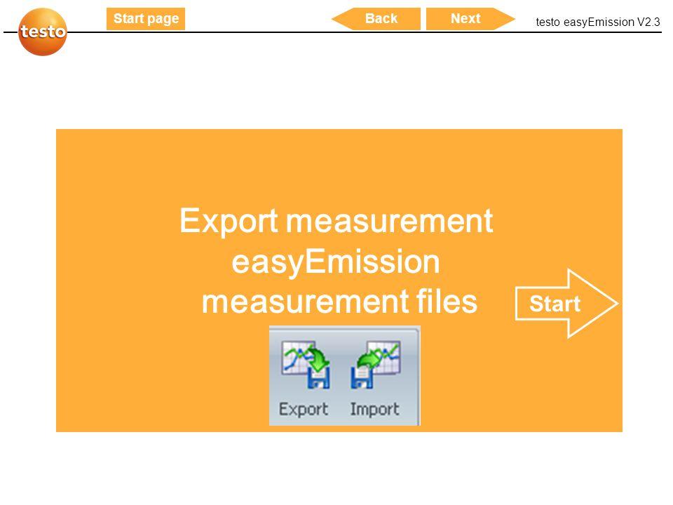 Export measurement easyEmission measurement files