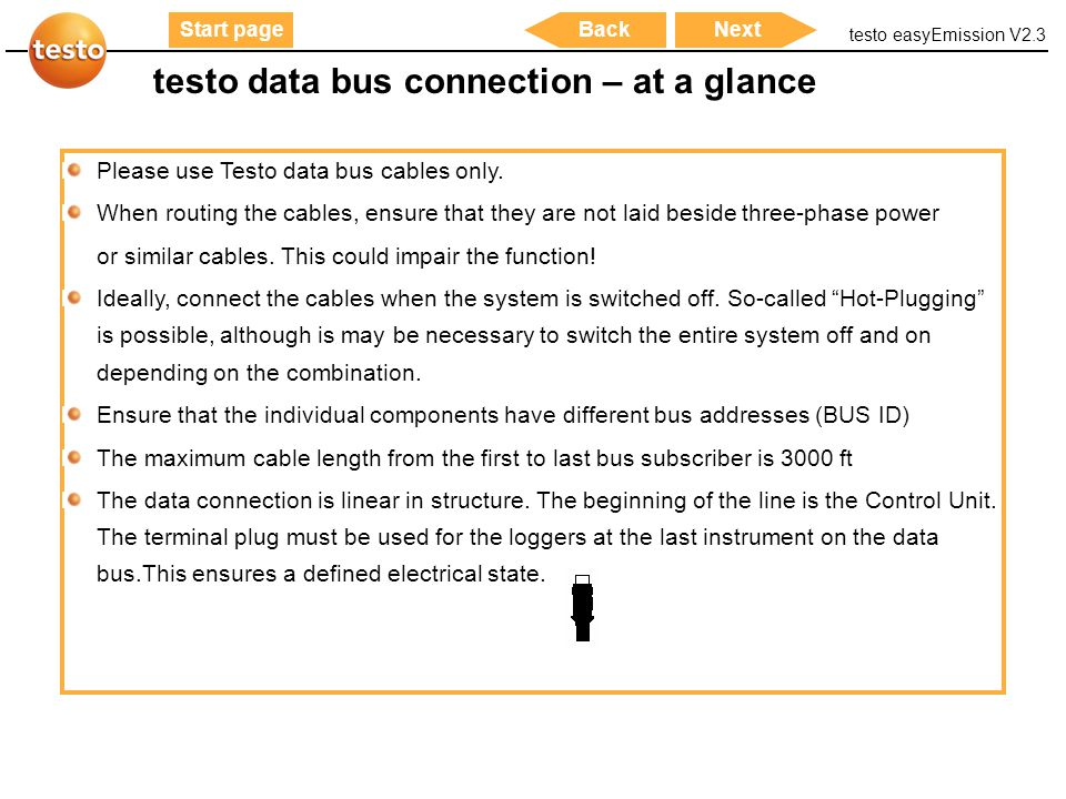 testo data bus connection – at a glance
