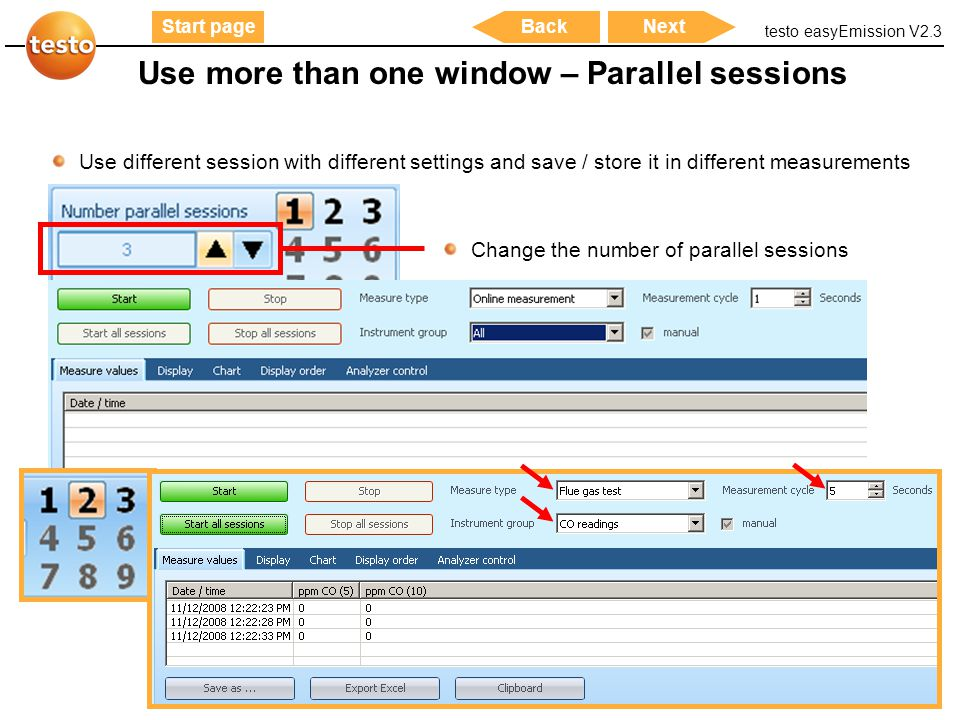 Use more than one window – Parallel sessions