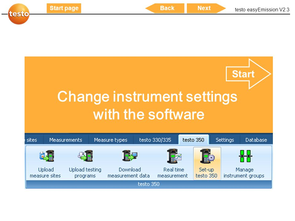Change instrument settings