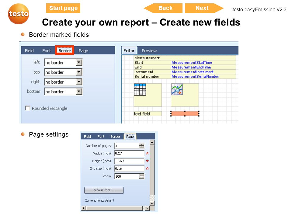 Create your own report – Create new fields