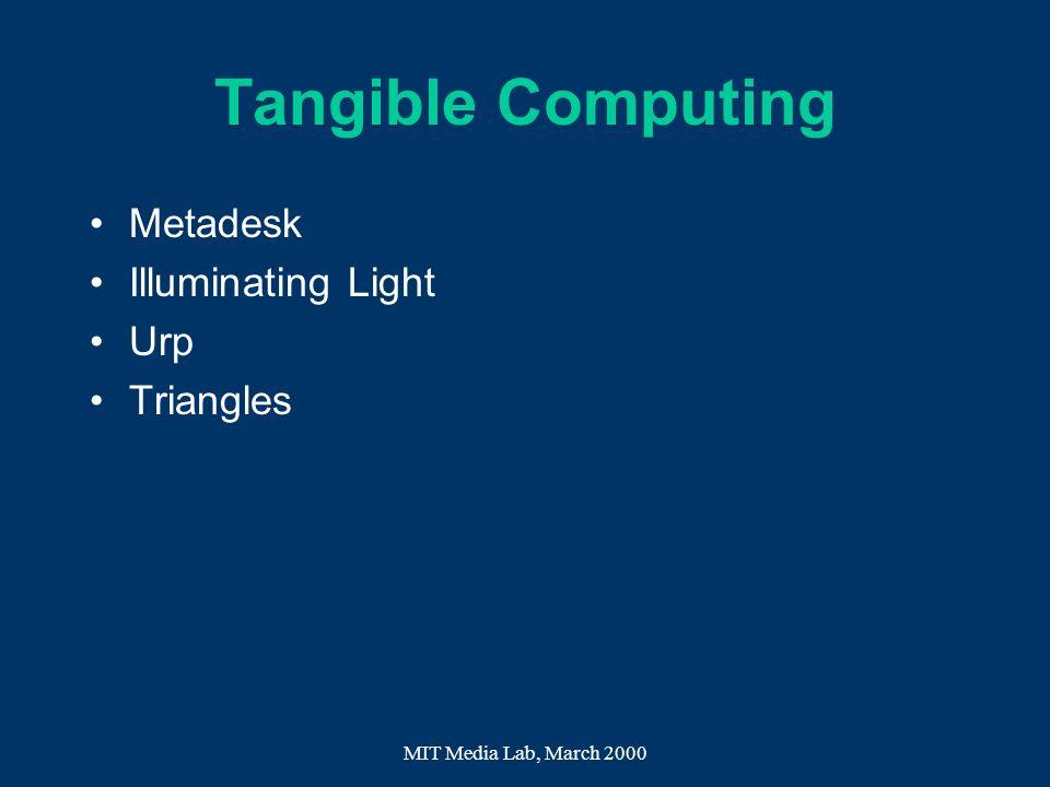 Tangible Computing Metadesk Illuminating Light Urp Triangles
