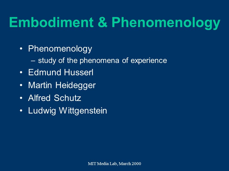 Embodiment & Phenomenology