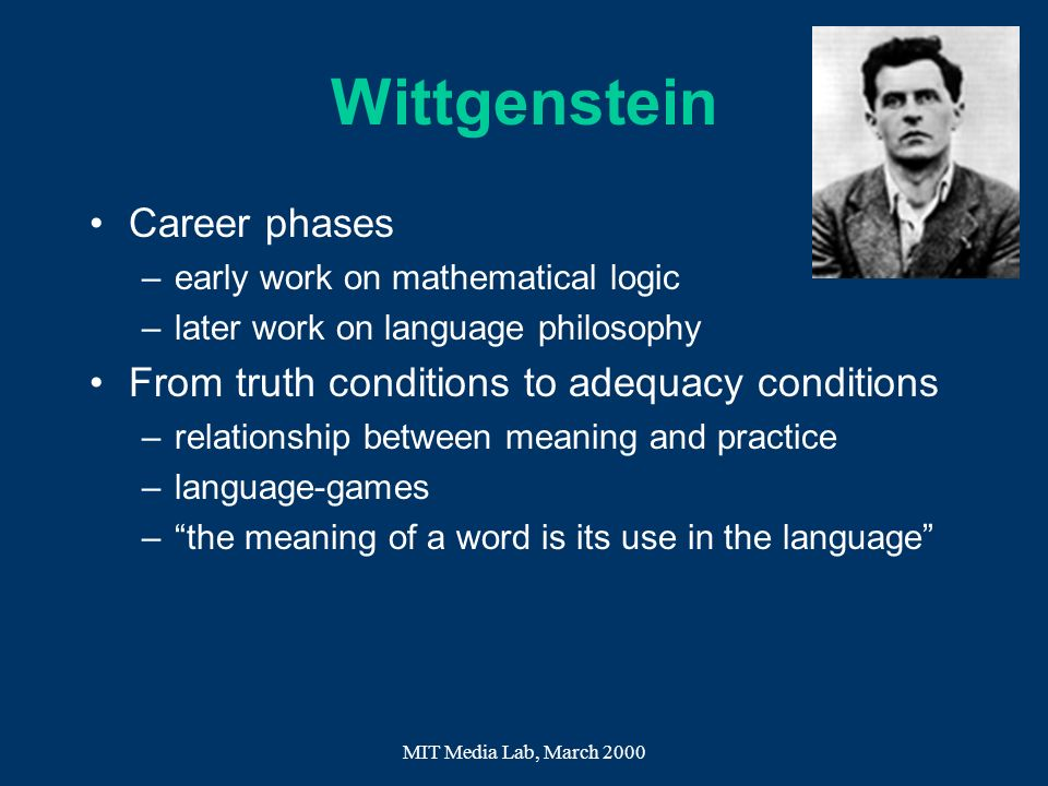 Wittgenstein Career phases