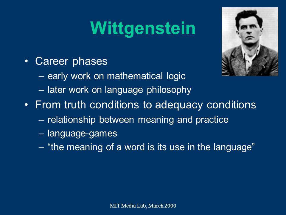 Wittgenstein Career phases