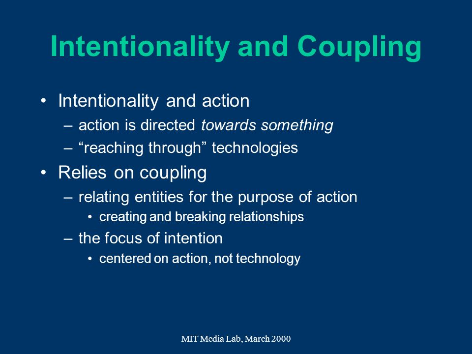 Intentionality and Coupling