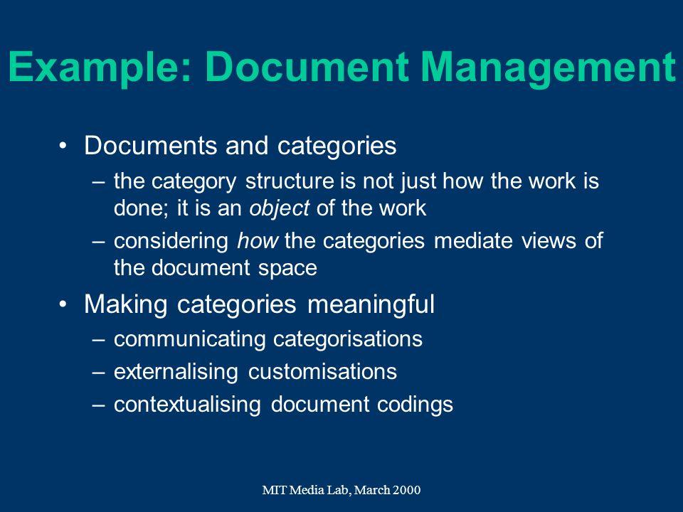 Example: Document Management