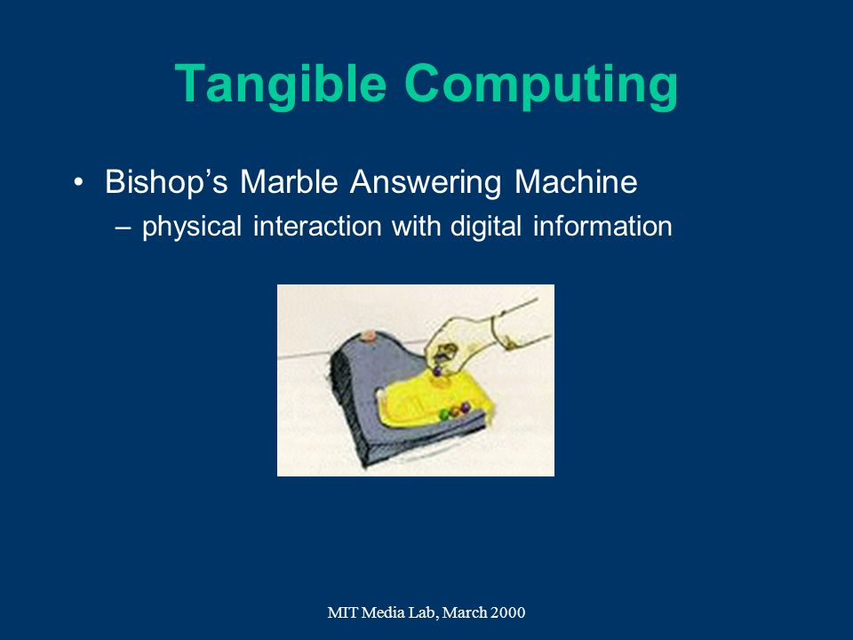 Tangible Computing Bishop's Marble Answering Machine