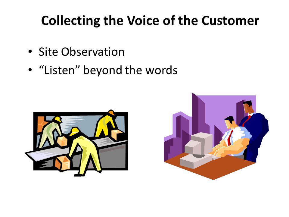 Collecting the Voice of the Customer