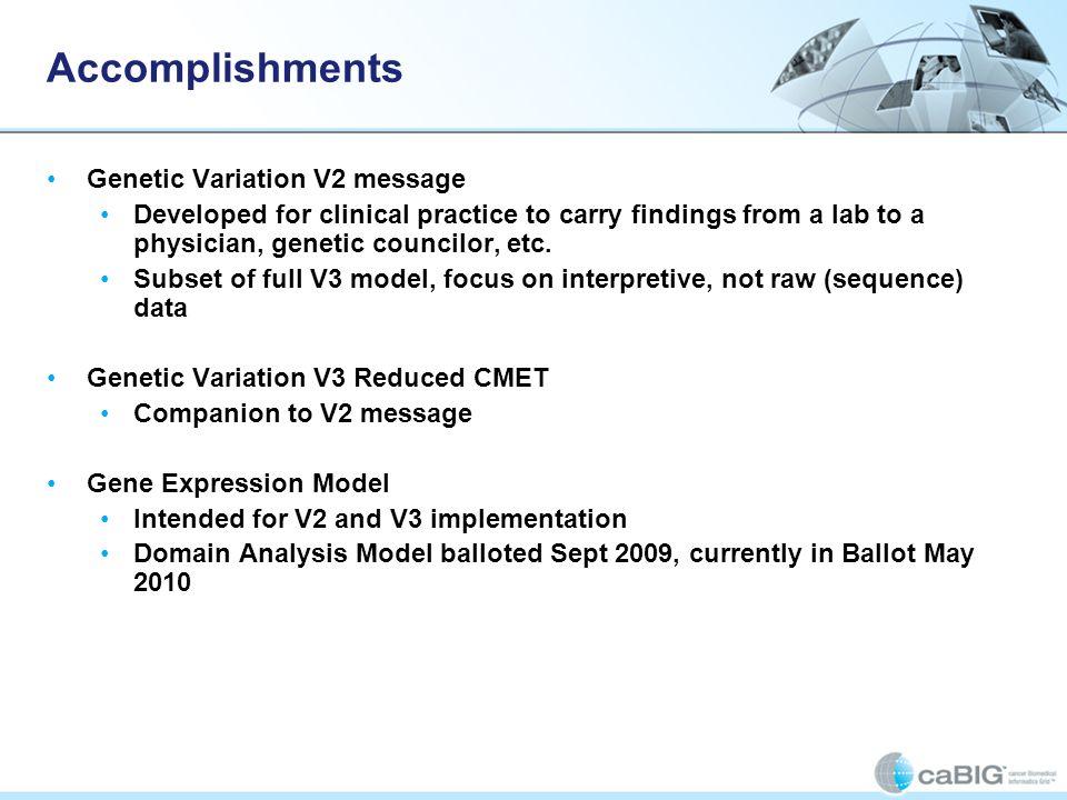 Accomplishments Genetic Variation V2 message