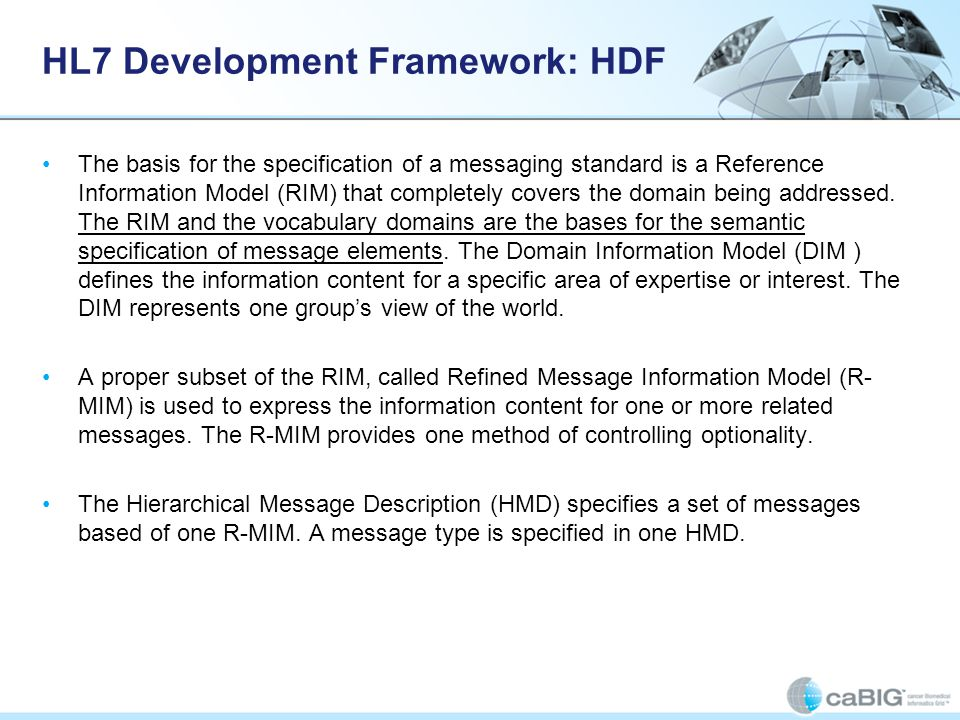 HL7 Development Framework: HDF