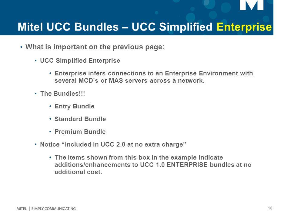 Mitel UCC Bundles – UCC Simplified Enterprise