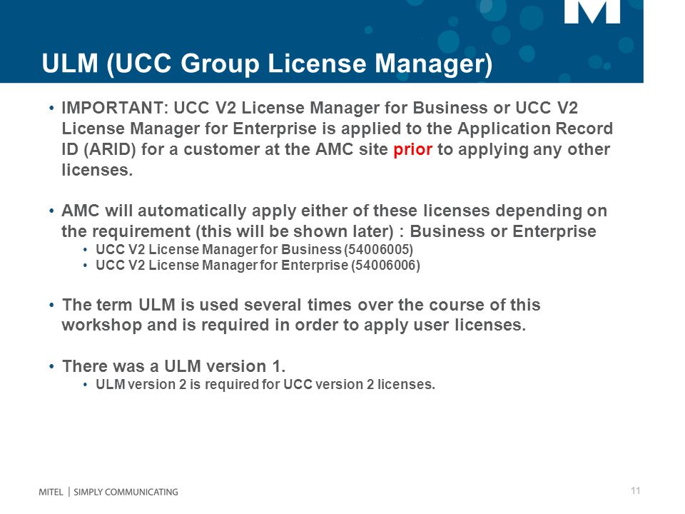 ULM (UCC Group License Manager)