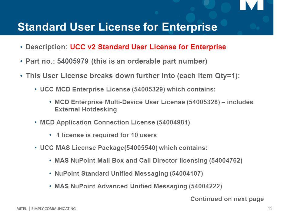 Standard User License for Enterprise