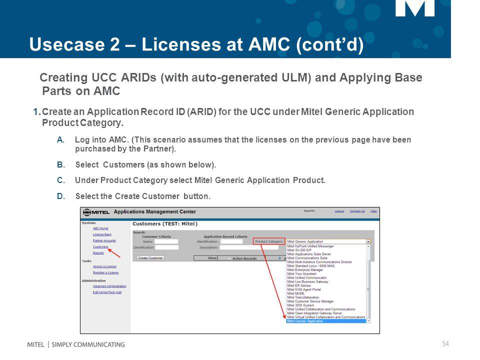 Usecase 2 – Licenses at AMC (cont'd)
