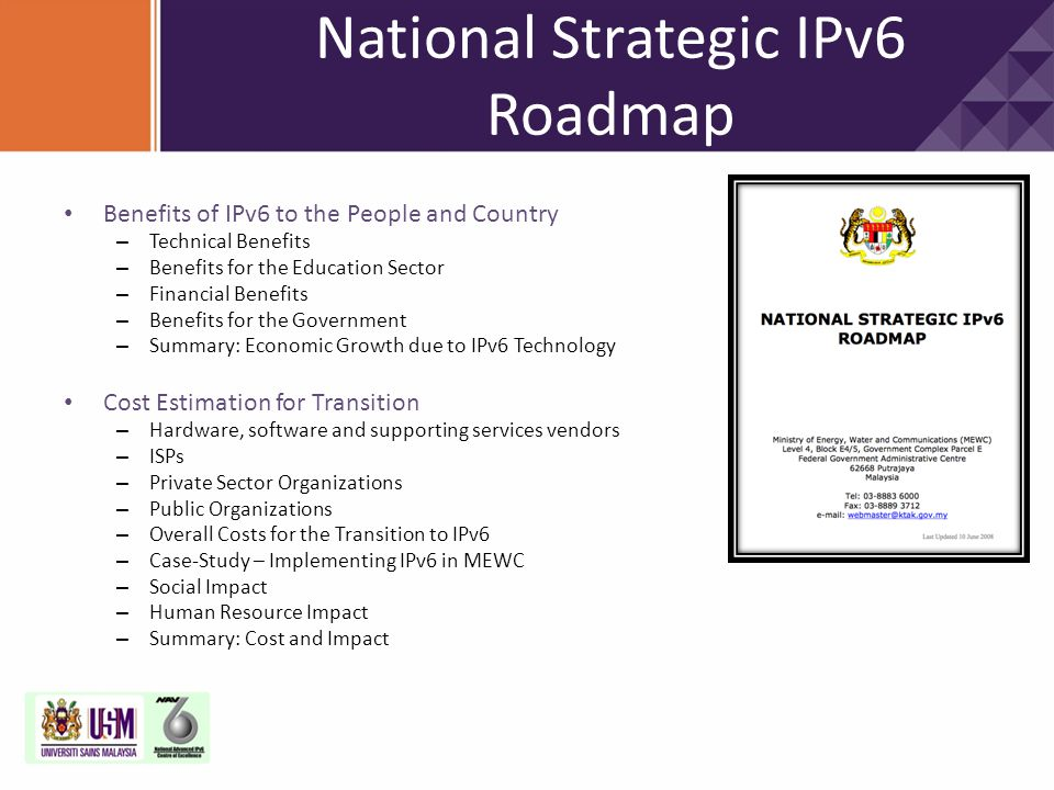 National Strategic IPv6 Roadmap