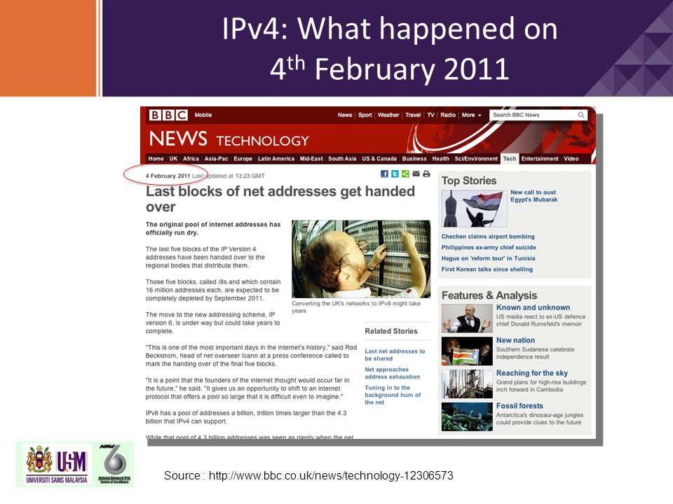 IPv4: What happened on 4th February 2011