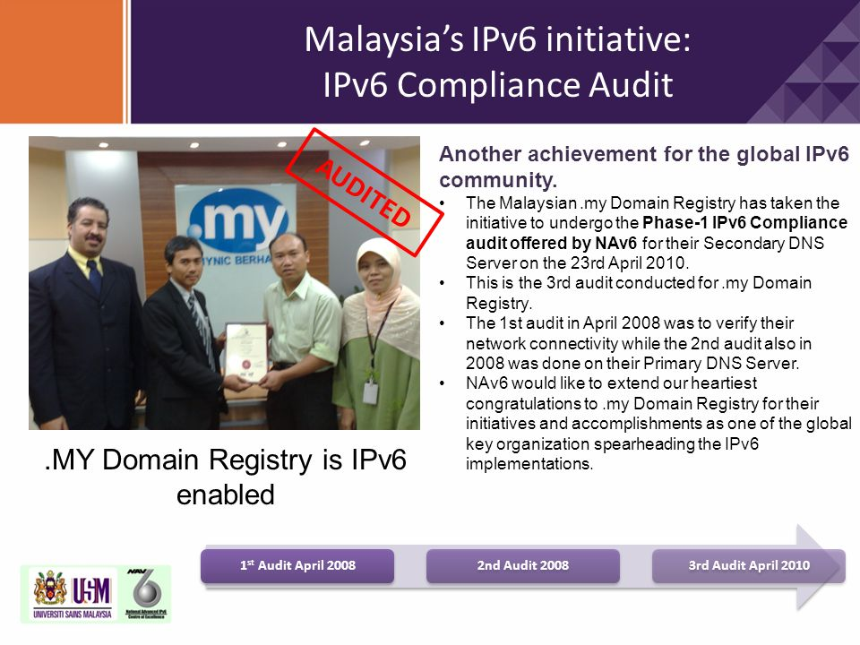 Malaysia's IPv6 initiative: IPv6 Compliance Audit